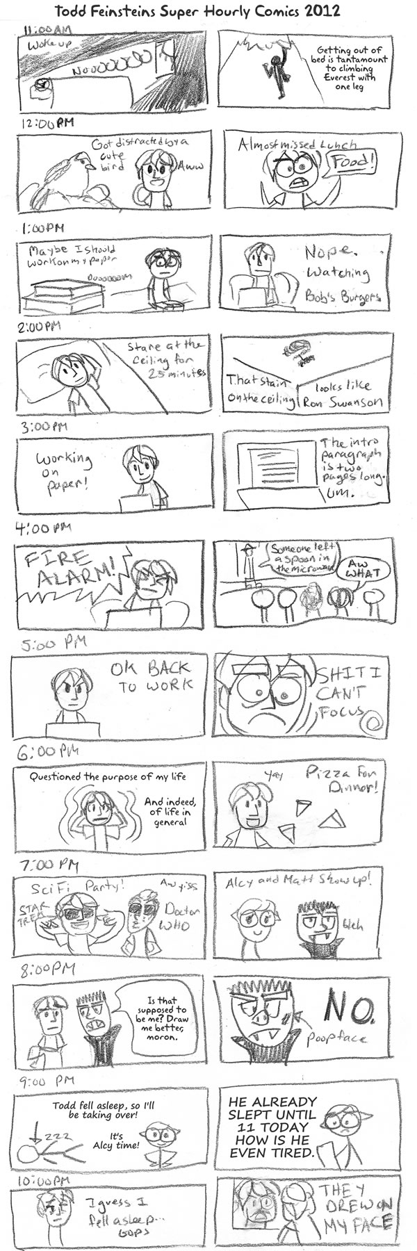 Todd Feinsteins Totally Excellent Hourly Comics 2012 Great Job
